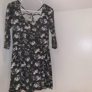 Flower Half-Sleeve Dress